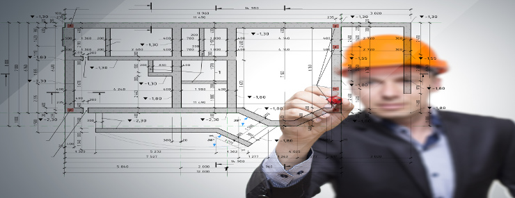 a structural engineer drawing a diagram