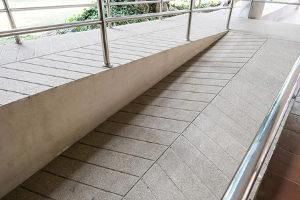 commercial concrete paving ramp