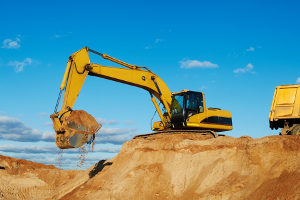 commercial dirt grading excavator