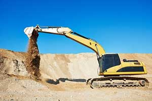 Fairfax, VA residential dirt grading excavator