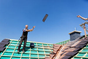 residential roofing shingle toss