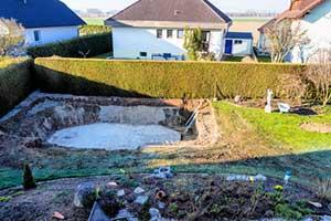 Inground pool removal service by pool demolition contractors