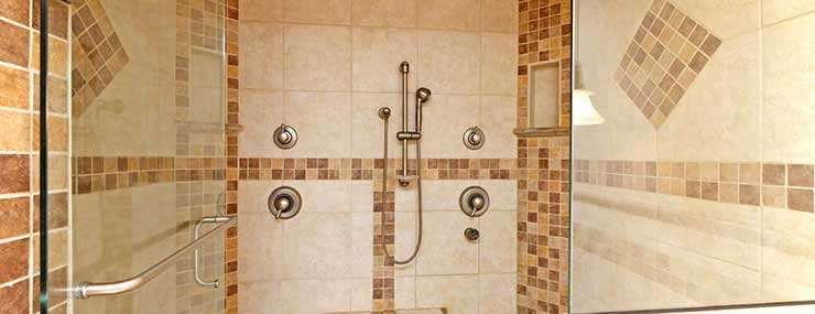 Completed shower after Fairfax, VA bathroom remodeling project