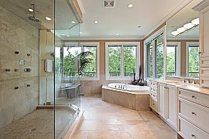 a Fairfax bathroom that was remodeled by a professional contractor