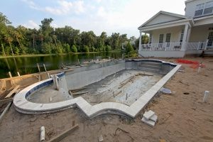 inground swimming pool that is ready to be filled in by Rockville, Maryland fill dirt