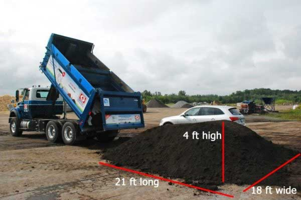 truckload of topsoil