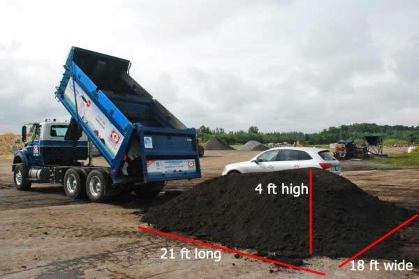 truckload of topsoil