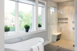 A bathroom that has recently undergone Fairfax bathroom remodeling from a Dirt Connections Fairfax bathroom remodeling