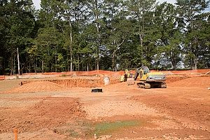 fill dirt contractors near Fairfax, VA who are performing dirt and site grading in order for brand new houses and yards to be built into a large residential area