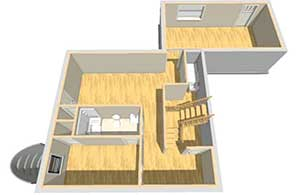 Basement 3D Rendering