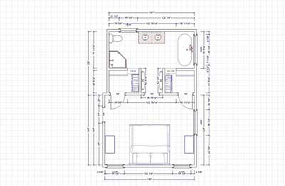 Bathroom floor plans with dimensions