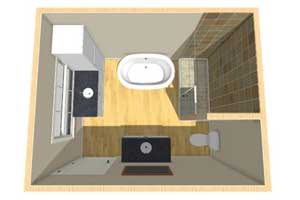 Small Bathroom Rendering