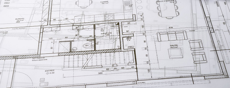 construction plans for a commercial building that will be built in Fairfax, VA
