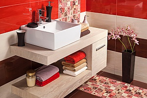 a Fairfax bathroom remodel that includes stenciled tiles which are expected to be popular in 2019 and beyond