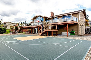 How to build a backyard basketball court using maryland for Built in basketball court