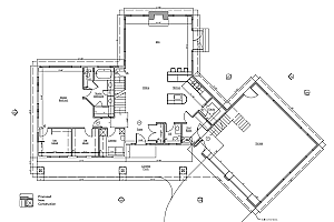 a floor plan for a home in Fairfax, VA