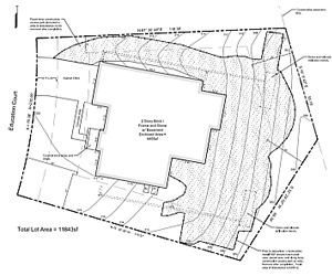 site construction plans showing the front side of a site