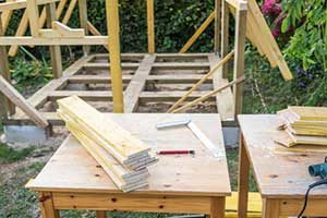 build a wood shed foundation