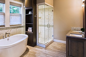 a bathroom that just received a Fairfax, VA bathroom remodel after having been demolished by bathroom remo800deling contractors since it was old and outdated
