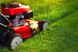 a homeowner mowing the lawn which is one of the ways how to prepare your lawn for spring