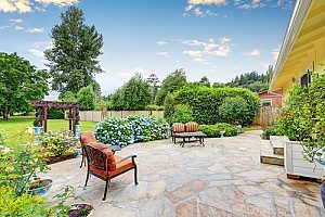 a patio that was constructed on top of many layers of Virginia fill dirt and topsoil