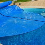 a pool that is being covered since the homeowners will be filling in a pool with dirt