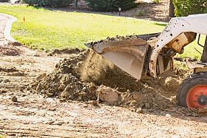 a bulldozer conducting dirt removal in Fairfax, VA