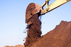 a large pile of Virginia fill dirt in a construction site