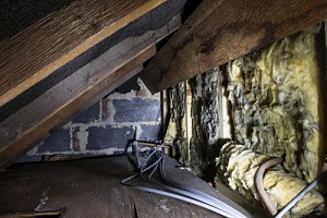 a very damp crawlspace which points to the need for foundation repair