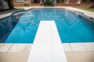 a swimming pool that is prone to swimming pool problems