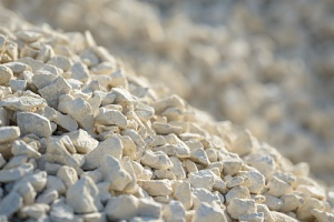 some crushed stone for a project