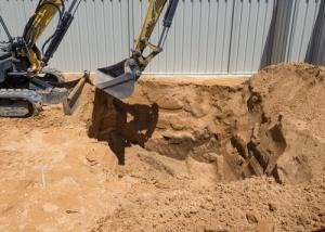 Dirt fill -Pool