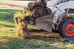 Excavating for a new gravel driveway
