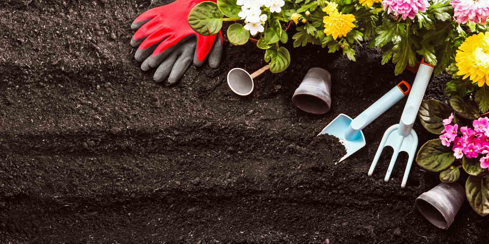 Gardening with mulch and compost.