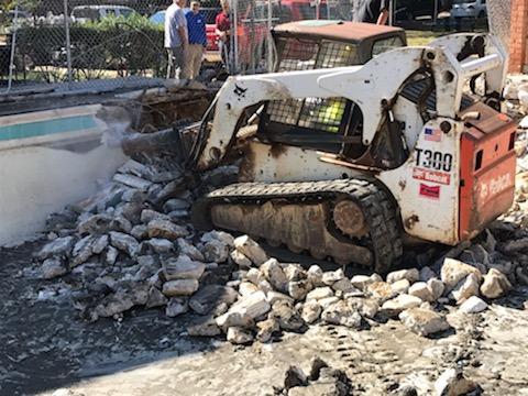 pool demolition fairfax county virginia