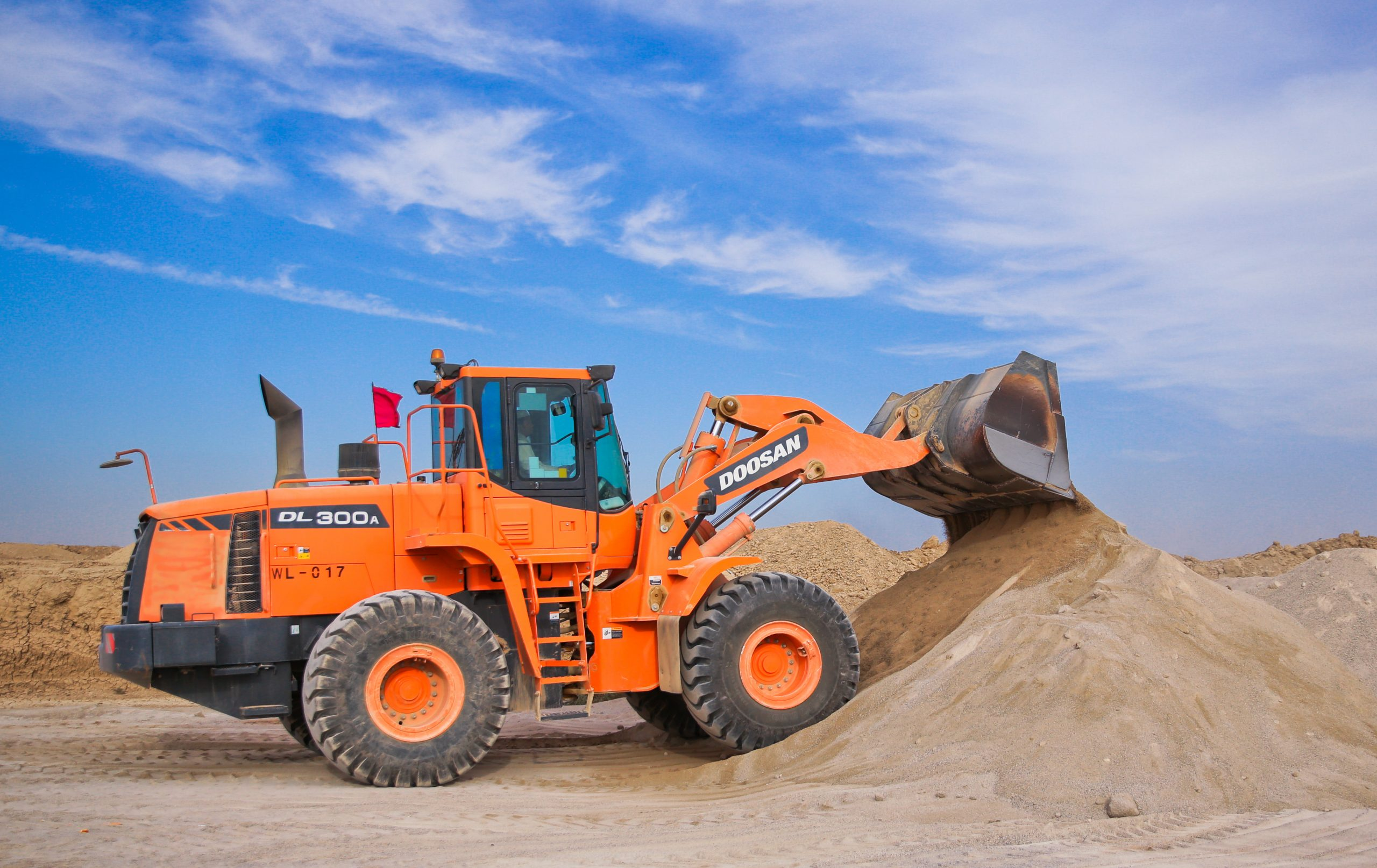 front end loader work by dirt connections