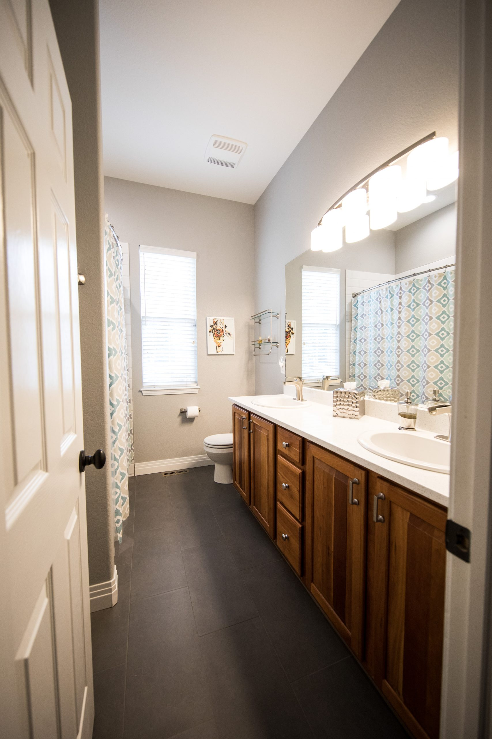Newly completed bathroom renovation project