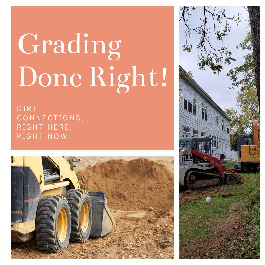 Dirt Connections land grading flyer