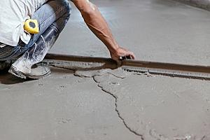 Leveling concrete in root cellar floor