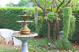 Stone Pedestal Fountain