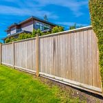 Privacy fence blocking view of home