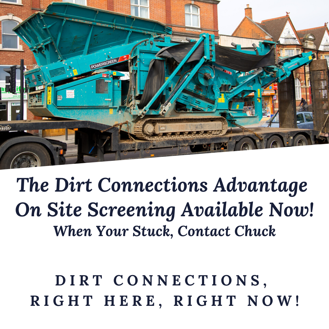 Fill Dirt & Topsoil Screening Machine Service Provide By Dirt Connections