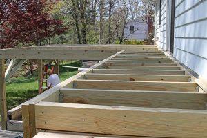 A ramp being built