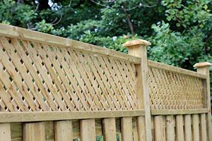 wooden lattice fence