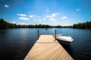 build a dock on a lake