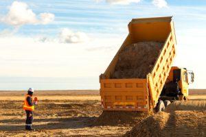 dump truck hauling