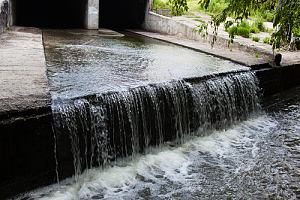 Fountain of stormwater runoff