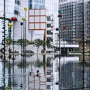 commercial buildings damaged from flood water that needs waterproofing