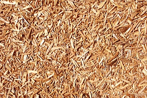 shredded wood that is used in topsoil