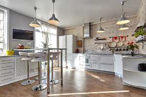 A beautiful kitchen interior. Your home addition plan should add value to your home
